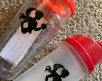 Shaker Bottle + Tumbler with lid and straw