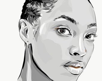 Digital personalized illustration, Realistic illustration, Custom portrait, Friendship day gift , Family portrait, Retrato personalizado
