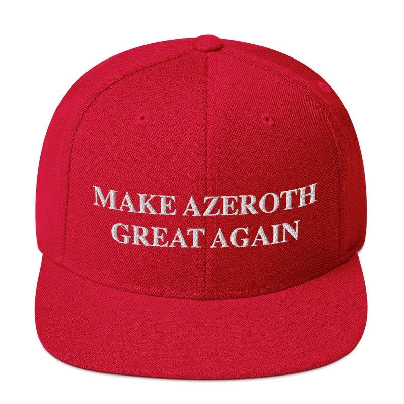 Make Azeroth Great Again Snapback image 0