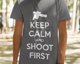 Keep Calm and Shoot First Tee