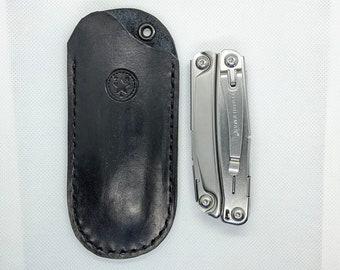 Handmade veg-tan large pocket knife slip with belt Loop | Multitool pocket slip | Multitool Belt Sheath| Leatherman Belt Sheath