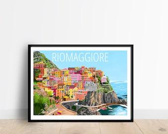 Riomaggiore Cinque Terre Italy Travel Art Print / Wall Print / Wall Art / Home Decor / Travel Wall Art