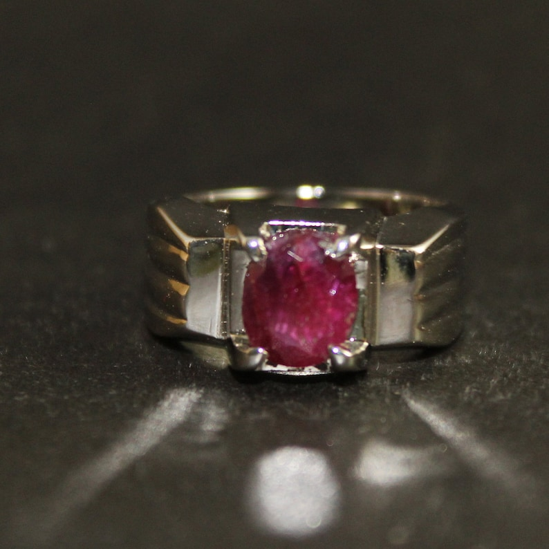 Natural Heated /& Untreated Deep Dark Red Burmese Ruby Yaqoot Roby Ring for Women in 925 Sterling Silver Handmade
