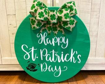 Irish sign St.Patrick/'s day Shamrock wreath Welcome sign Welcome Claddagh Shamrocks Door Hanger Shamrock
