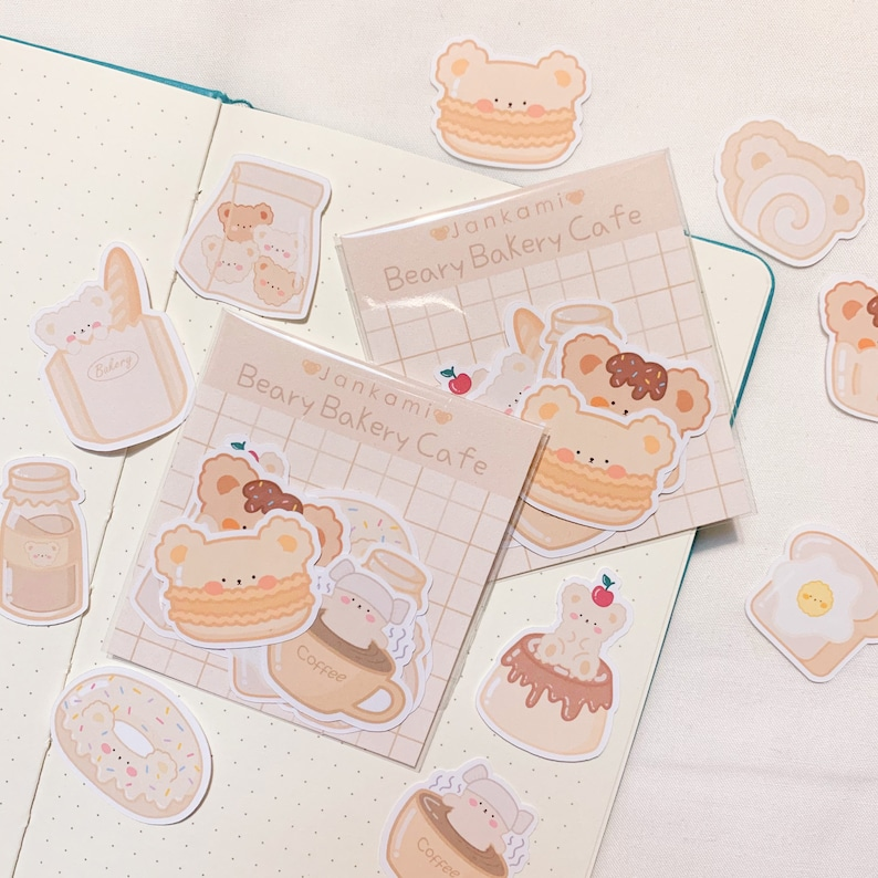 Beary Bakery Cafe Sticker Flakes kawaii bear stickers for image 0