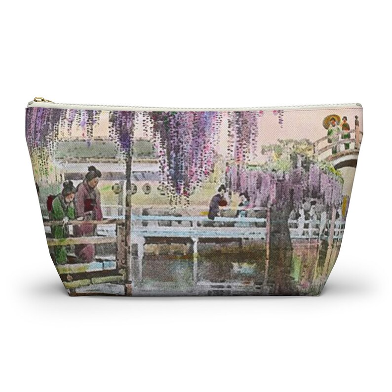 T-bottom pouch Cute pouch Accessory pouch Geisha gift Japanese garden Pastel gift Pouch bag Japanese pouch Asian gift
