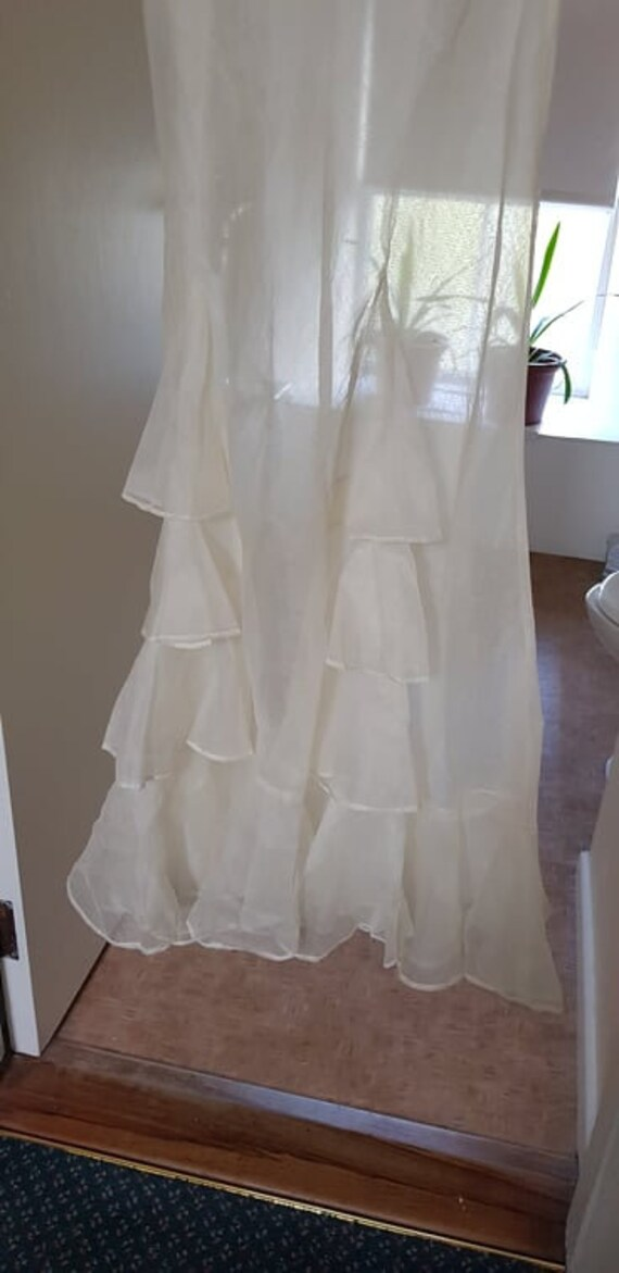1930s dress 100% silk organza sheer dress and cape - image 8
