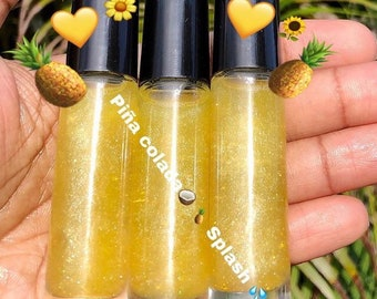 Piña colada lip oil, Shimmering Moisturizing  Lip oil