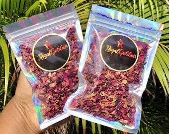 Organic dried rose petals bundle bag