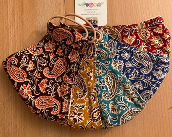 Indian Cotton Paisley Face Covers