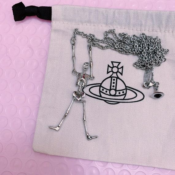 Vivienne Westwood silver skeleton necklace