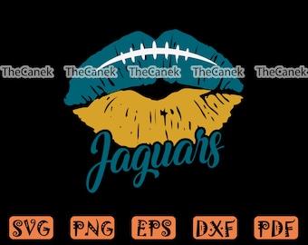 Jaguars Football Lips SVG  -  Jaguars Football SVG -  Jaguars SVG, Cricut Cameo, Cutting File, ClipArt, Silhouette