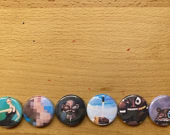 "Kanye West MBDTF 1"" Buttons"