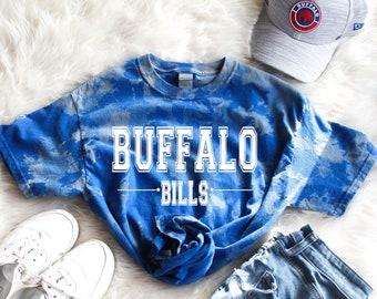 Buffalo Bills UNISEX Tee, Buffalo Bills T shirt, Bills Tee, Bills Mafia, NFL Shirt, Bills Bleach Dyed