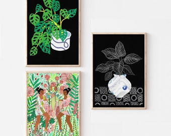 Set of 3 A4  Art Prints / Any 3 Prints from the shop in A4 / Selection of 3 A4 Prints