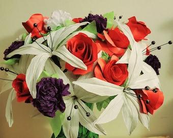 Handmade Paper Flower Bouquet - Assorted Styles