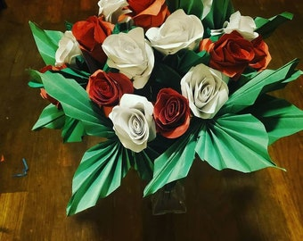 Paper Rose Bouquet (18 or 24 roses)