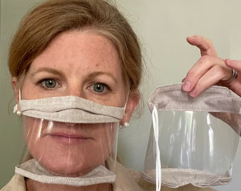 Anti Fog Clear Mask for Teachers, Therapists, SLP, Hearing Impaired.  Transparent Clear Educator Mask.