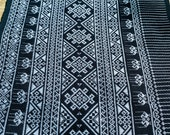 Tribal Fabric - Hand Textile Fabric - BoHo Decor - Thai Fabric - Home Decor - Table runner - Scarf Fabric