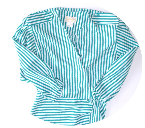 80s striped blouse