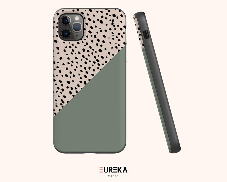 iPhone 12 Mini iPhone 11 Pro Max iPhone SE Available for iPhone 12 Pro Max Olive Dots CARD+MIRROR Premium iPhone Case 11 12 Pro