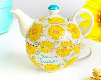 but you can choose any color spatter and any design This ceramic teapot is done with teal spatter and the sunflower design Ceramic Teapot