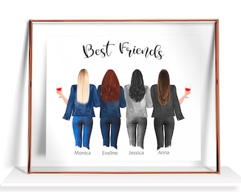 Friendship Painting Etsy