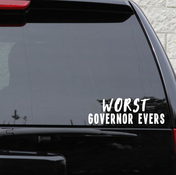 Wisconsin Republican Democrat My Governor is an Idiot Decal Election Politics Tony Evers Sticker Government Recall *