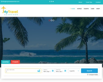 MODERN WordPress Blog Website Design Theme Template, Hotel and Travel Affiliate E-commerce Website, Affiliate Marketing Program Web Design