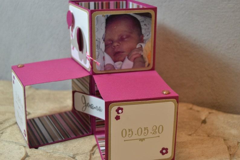 Aufstellkarte mit Geburtsdaten