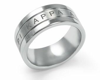 Pi Kappa Alpha Fraternity Tungsten Ring