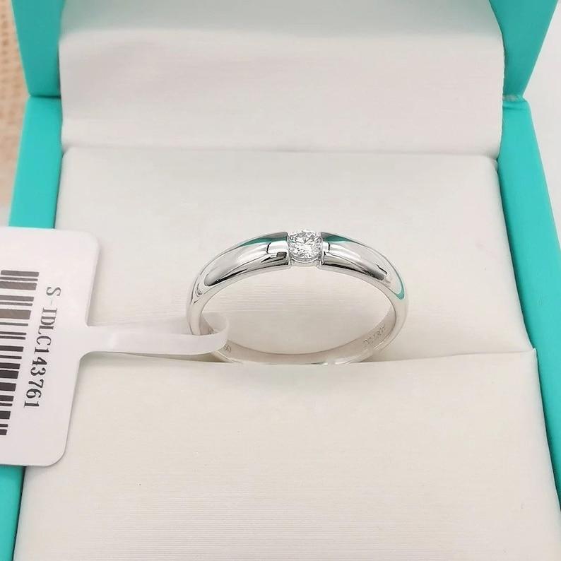 18K Wedding Engagement Band Forever Diamond Ring men women