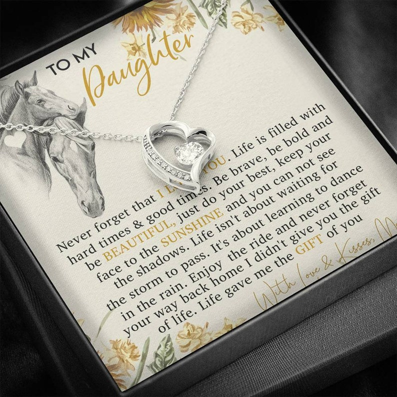 Gift for Daughter Who Horse Lovers Graduation Gift For Daughter Necklace for Horse Lovers