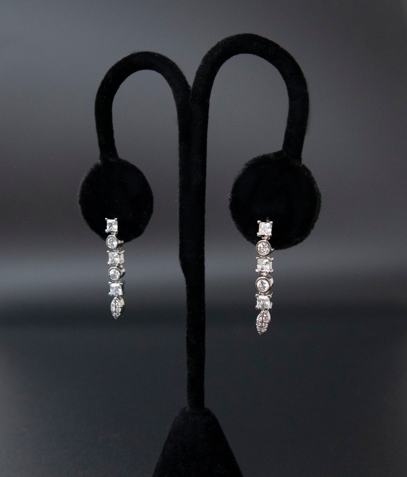 Sterling Silver Three Circle Earrings
