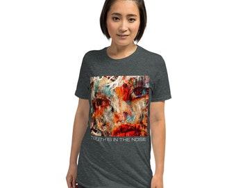Dark gray t-shirt with art print Unisex