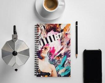 Spiral notebook with original artwork