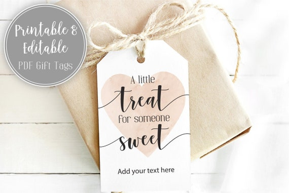 A Little Treat for Someone Sweet Printable Gift Tag