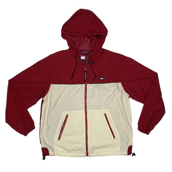 Vintage Tommy Hilfiger Red Hooded Windbreaker