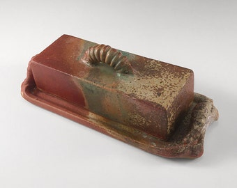 Ceramic butter dish set for your table, handmade stoneware pottery