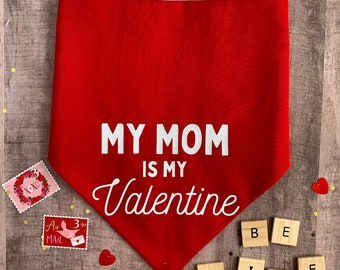 FLORAL HEARTS Puppy bandana Cute Dog Bandana red /& pink roses Valentine/'s Gift Valentine/'s Day personalized First Valentine/'s Day
