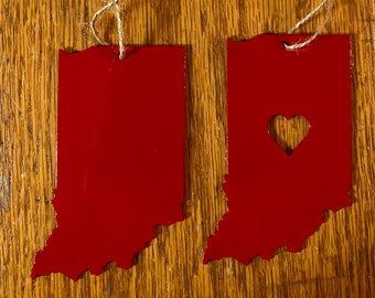 State Ornaments (Metal) - Heart Ornament/Solid State