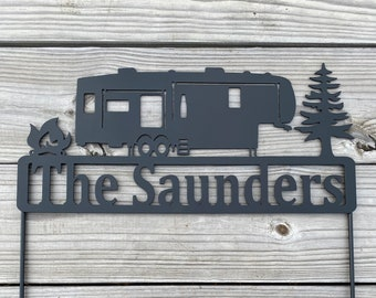 Personalized Camper/Fifth Wheeler Sign