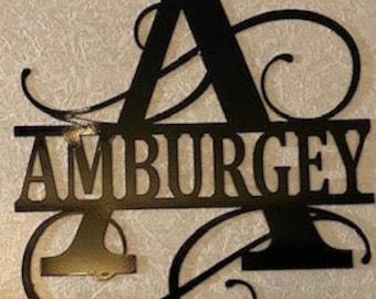 Personalized Metal Monogram