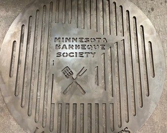 """Personalized Round Grill Grate , 18 - 30"""""""