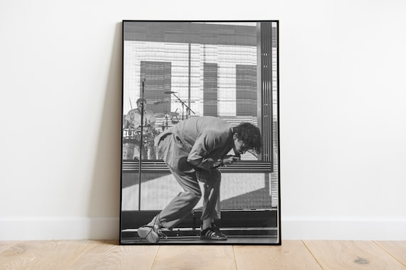 Matty Healy Poster the 1975 concert merch Black and white live music print Seattle Washington 2