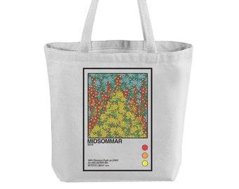 Midsommar Reusable Canvas Tote Bag, totebag, aesthetic, for women, teacher, books, grocery, print, horror, holder