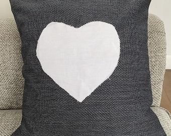 Big heart pillow | Etsy
