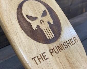The Punisher: Wooden Paddle, Paddle, Paddle Spanking, Paddle Board, Paddle Decor, Spanking, OTK, Discipline, Decor