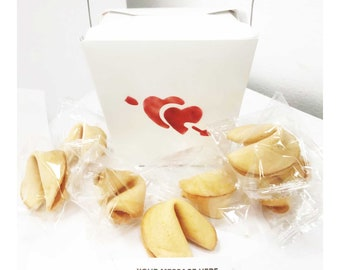 Missing You Love 50 BABY BLUE HEART Fortune Cookies Anniversary Valentine/'s Thank You Birthday Mother/'s Day