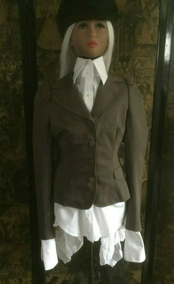 Womens Allsaint Tailored Brown Dorian Victorian Ri